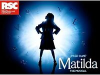 Pair of Tickets for Matilda The Musical - 30th May 7:30pm, Row N