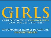 2 TICKETS TO SEE THE GIRLS MUSICAL LONDON FRIDAY 24 FEBRUARY 2017 LESS THAN FACE VALUE