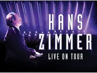 Hans Zimmer SSE Hydro Glasgow - Two Excellent Seats 6 Rows From Front