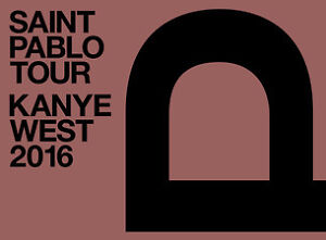 2 Kanye west tickets on floor 1 (value of 225$/Ticket)