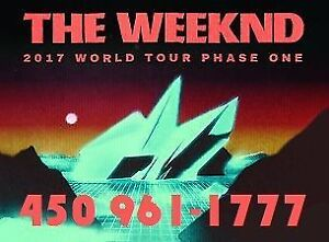 THE WEEKND : SECTIONS BLANCS, ROUGES ET PARTERRE !!!