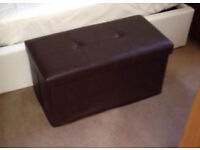 Big faux leather storage box for urgent collection
