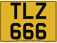 TLZ 666 – Price Includes All DVLA Fees – Cherished Personal Private Registration Number Plate