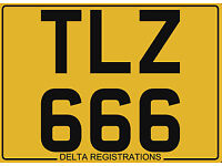 TLZ 666 – Price Includes DVLA Fees – Others Available - Cherished Personal Registration Number Plate