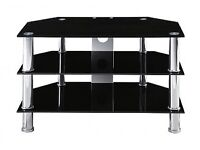 Immaculate condition 3 tier black glass to stand