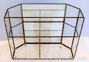 Brass & Glass Miniature Curio Cabinet