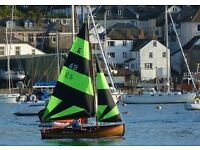 Fowey River Dinghy for sale - 2 sets of sails, trailer & tender.