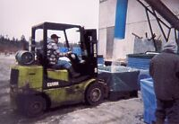 Experienced Forklift Operator w/Fish Plant Experience Wanted
