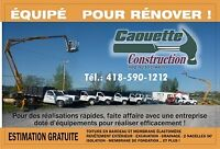 Rénovation, revêtement extérieur - Caouette Construction