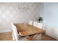Chunky Farmhouse Style DINING TABLE from Barker and Stonehouse + 6 chairs