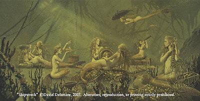 Shipwreck-Mermaid Art Print by David Delamare! (R64)