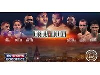 BOXING: JOSHUA VS MOLINA @ THE GOLDEN HORSESHOE CASINO