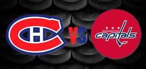 Billet Habs vs Capitals 1 Novembre