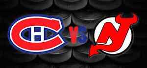 Canadien vs new jersey (eat free) tickets