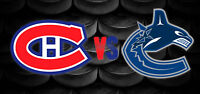 Billets Canadiens vs Canucks ce soir Section Desjardins 206-E