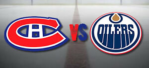 EDMONTON OILERS VS MONTREAL CANADIENS MARCH 12 - LOWER BOWL!