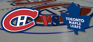 Montreal Canadiens VS Toronto Maple Leafs Tickets - ROW A