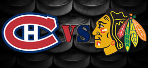 CANADIENS VS CHICAGO GRIS LE MARDI 10 OCT.(10X309A)