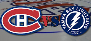 2 WHITES TAMPA BAY LIGHTNING @ MONTREAL CANADIENS OCT 27 AT COST