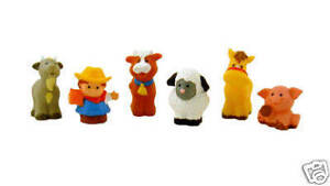 FISHER PRICE LITTLE PEOPLE FARM ZOO FIGURES SET OF 6