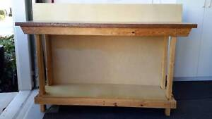 SOLID  WOODEN WORKBENCH Arundel Gold Coast City Preview