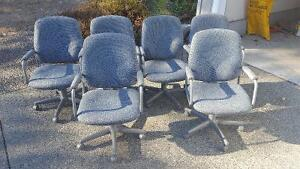 Table and reclining wheeled chair set