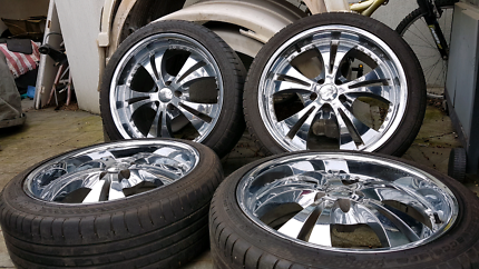 "20"" Chrome Wheels + Tyres Suit Mercedes  Audi, VW"
