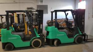 FORKLIFT CHARIOT ELEVATEUR LIFT TOYOTA CAT YALE RAYMOUND HYSTER TCM CROWN USAGE ELECTRIQUE ET PROPANE