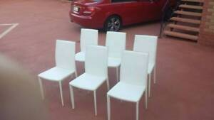Genuine Leather 6 Piece White Dining Room Chairs EXPENSIVE LOOK Yeronga Brisbane South West Preview