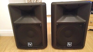 EV SX300 SPEAKERS AND QSC AMP