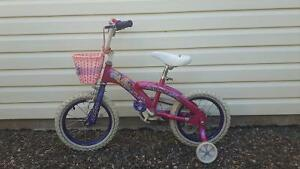 "14"" Girl's bike and helmet"