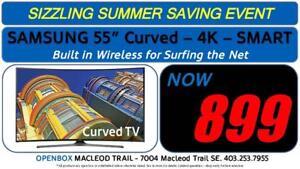 "SAMSUNG 55"" 4K SMART Curved UHD TV 1 Year Warranty"