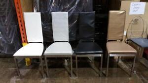 Chaise Salle à manger Moderne, base Métal, 4 couleurs - LIQUIDATION