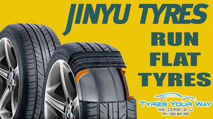 Jinyu Run Flat Tyres with mobile tyre fitting and balance.