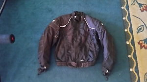 Medium Size Motodry Stealth Motorbike Jacket with Leather Inserts Huntingdale Gosnells Area Preview