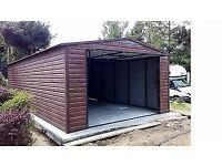 Wooden Look Metal Garage RRP 50% Off
