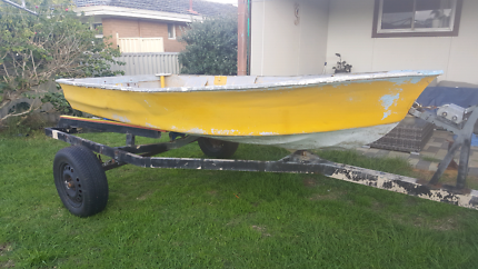 Dinghy and trailer