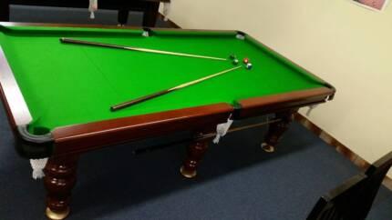 Solid timber pool table billiards table british felt other sports pool table billiard table 8ft keyboard keysfo Gallery