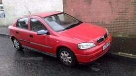 VAUXHALL ASTRA (automatic, 1.6L petrol, hatch) : A bit shabby, but 11 months MOT and v.low miles