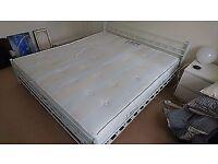 Super king size Sealy Posturepedic Backcare Orthopedic Mattress + free bed frame