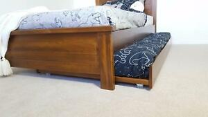 KING SINGLE BED & SINGLE TRUNDLE - SALE - SOLID TIMBER