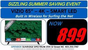 "65"" 4K Smart Vizio UHD TV, 1 Year Warranty"