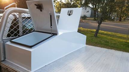Ute truck gullwing steel toolbox tool box white powdercoated