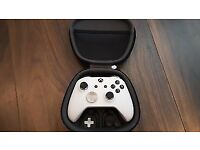 Custom White Elite Magnetic Black Xbox One S Controller Soft Shell Pad