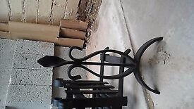 cast iron fire basket with dogs antique fire basket fire grate