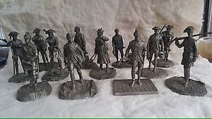 Pewter Franklin Mint Revolutionary soldiers