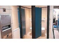 toilet cubicles
