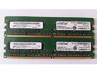 PC DDR2 4GB RAM MEMORY SET (2X2GB)