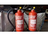 two fire extinguishers