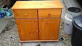 Sideboard... Antique stain finish 2 door 2 drawer sideboard Width 81.5 Depth 35 Height 79.5
